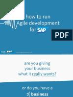 How to Run Agile Development for SAP eBook