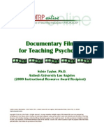 Documentary Films for Teaching Psychology