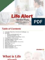 Life Alert media plan