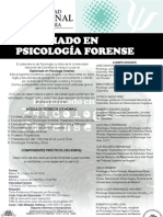 Afiche Diplomado Psicología Forense