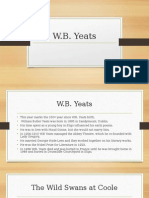 wb yeats revision