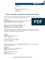 MIII U2 Actividad 3 Practica de La Gramatica Del Modulo III Elizabeth Delgado Arambula