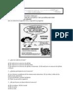 Examen Español Septimo