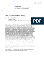 Bourdieu the Peasant and His Body