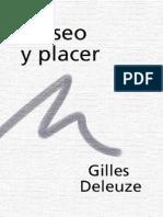 DELEUZE, Gilles - Deseo y placer (traducido por Javier Sáez, en Archipiélago. Cuadernos de crítica cultural, Barcelona, n.º 23, 1995)