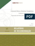 Protocolo Clínico e Diretrizes Terapêuticas Profilaxia Antirretroviral Pós Exposição de Risco para Infecção pelo HIV  (PEP)