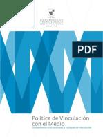 Políticas Vinculación Con El Medio Vtte Utem 2013