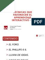 Técnicas que Favorecen el Aprendizaje Interactivo II.pptx