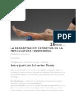 Readaptacion Muscular