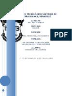 QUIMICA 1.6 APLICACIONES TECNOLÓGICAS DE LA EMISIÓN ELECTRÓNICA DE LOS ÁTOMOS