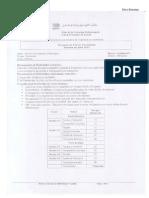 Examen de Fin de Formation TCE 2012 Variante 2