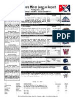 Minor League Report 15 06 02
