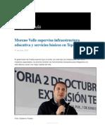 01-06-2015 Grupo Fórmula - Moreno Valle Supervisa Infraestructura Educativa y Servicios Básicos en Tepeaca