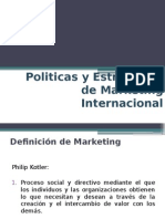 5. Politicas y Estrategias de Mkt Internacional