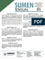Resumen Mayo 2015