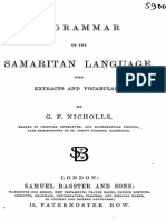 A Grammar of the Samaritan Language 1858