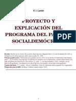 V.I. Lenin Proyecto y Explicacion Del Programa