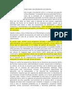 Traducción - LECCIONES PARA UNA PROFESIÓN ACCIDENTAL