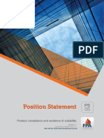 FPAA Product Compliance And Evidence Of Suitability