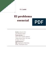 V.I. LENIN El Problema Esencial