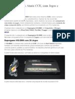 À VENDA_ Dois Ataris CCE, Com Jogos e Controles _ Antonio Borba