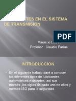 Lubricantes en El Sistema de Transmision