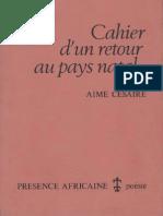 A. Césaire - Cahier D'un Retour Au Pays Natal