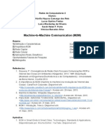 RoteiroApresentacaosobreMachine to MachineCommunicationM2M