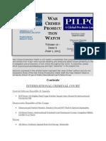War Crimes Prosecution Watch Volume 10 - Issue 6 June 1, 2015