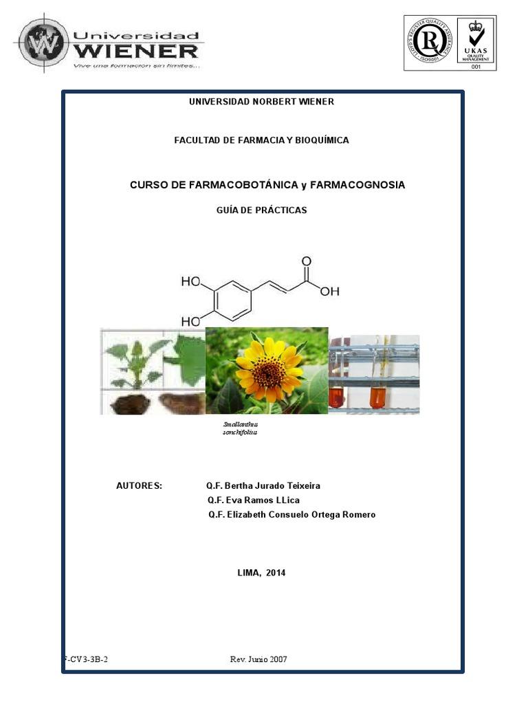 Guia de Farmacobotanica y Farmacognosia