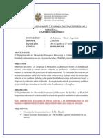 Convocatoria Cir 070 Curso Jovenes Educacion y Trabajo