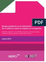 Deudas pendientes en la eliminación de la violencia contra las mujeres en la Argentina