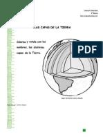 Guía Capas de la Tierra para rellenar - Cs. Naturales - 4°