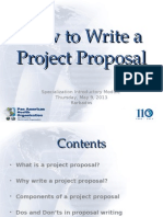How to Write a Project Proposal
