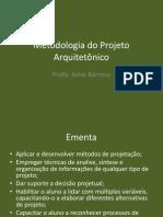 Metodologia Do Projeto Arquitetonico
