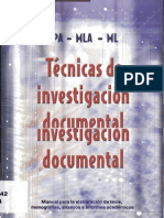 tecnicas de investigacion documental