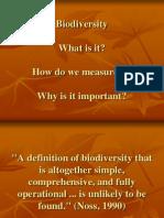Biodiversity Introduction