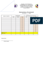 Template Enrolment as of June 3,2015