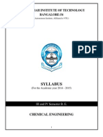 Syllabus Year 2014-15 Chemical Engineering 3and4 Semester