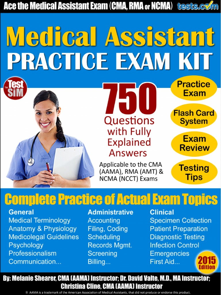 medical assistant exam practice test certification document