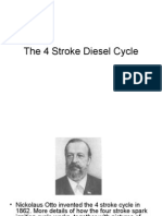 the 4 stroke diesel cycle