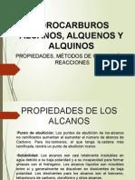 Los Hidrocarburos (Alcanos, Alquenos y Alquinos) Propiedades, Reacciones y Metodos de Obtencion.ppt