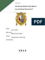 Informe 3 Fisica III UNMSM