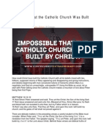 Impossible That the Catholic Church Was Built by Christ