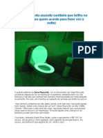 Homem Inventa Assento Sanitário Que Brilha No Escuro