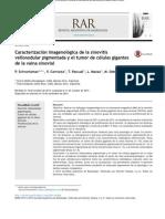 Caracterización imagenológica de la sinovitis vellonodular pigmentada y el tumor de células gigantes de la vaina sinovial