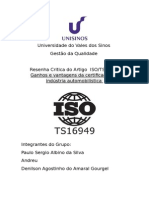 Resenha Critica Da ISOTS 16194