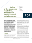 Structures Reactions Mechanisms Metalloenzymes