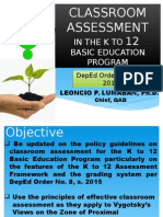 Assessment K to 12 2015
