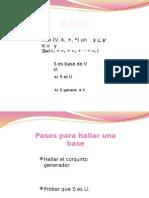 Bases y Dimension
